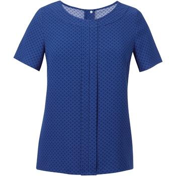 textil Mujer Tops / Blusas Brook Taverner Crepe De Chine Azul Royal/Azul Marino