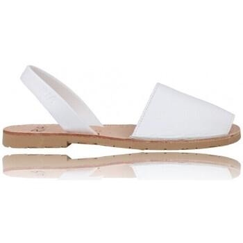Zapatos Mujer Sandalias Ria Sandalias Menorquinas Abarcas Mujer de  Pau 20002-S2 Blanco