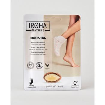 Belleza Cuidados manos & pies Iroha Nature Calcetines Mascarilla Nutritivos Argán