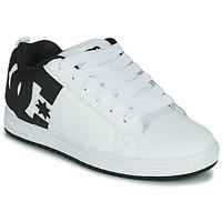 Zapatos Hombre Zapatos de skate DC Shoes COURT GRAFFIK Blanco / Negro