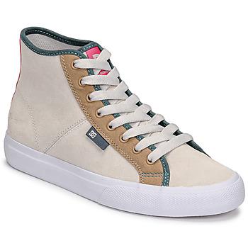 Zapatos Mujer Zapatillas altas DC Shoes MANUAL HI SE Beige