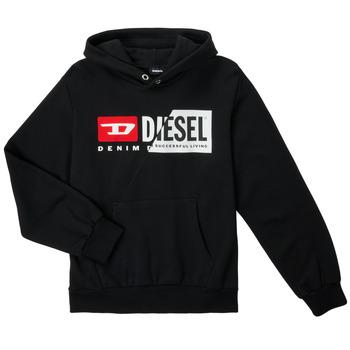textil Niños Sudaderas Diesel SGIRKHOODCUTYX OVER Negro
