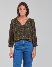 textil Mujer Tops / Blusas Vila VIZUGI Negro / Amarillo / Azul