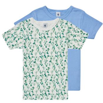 textil Niño Camisetas manga corta Petit Bateau LOLITA Multicolor