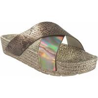 Zapatos Mujer Alpargatas Kelara Playa señora  k12033 oro Oro