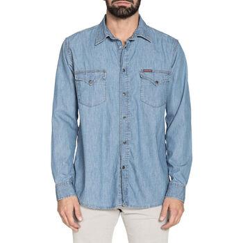 textil Hombre Camisas manga larga Carrera - 205-1005A Azul