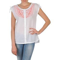 textil Mujer camisas manga corta Antik Batik AYLA Blanco