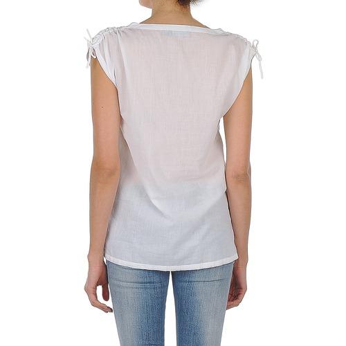 Mujer Ayla Manga Antik Textil Blanco Corta Batik Camisas qpGSUMzV