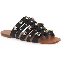 Zapatos Mujer Zuecos (Mules) Miss Unique UNIQUE OURO CALF PRETO BORCHIE Dorato