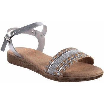 Zapatos Mujer Sandalias Duendy Sandalia señora  3205 plata Plata