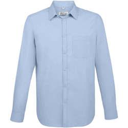 textil Hombre Camisas manga larga Sols BALTIMORE FIT AZUL CIELO Otros