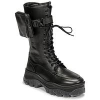 Zapatos Mujer Botas de caña baja Bronx JAXSTAR HIGH Negro