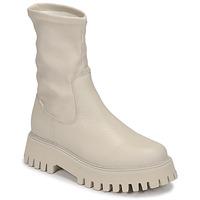 Zapatos Mujer Botas de caña baja Bronx GROOV Y Blanco