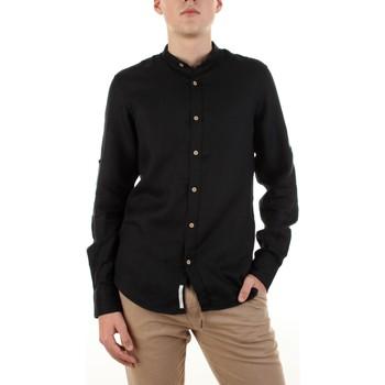 textil Hombre Camisas manga larga Yes Zee C506-U400 Negro