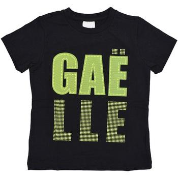 textil Niño Camisetas manga corta GaËlle Paris - T-shirt nero/giallo 2746M0321 N/G NERO
