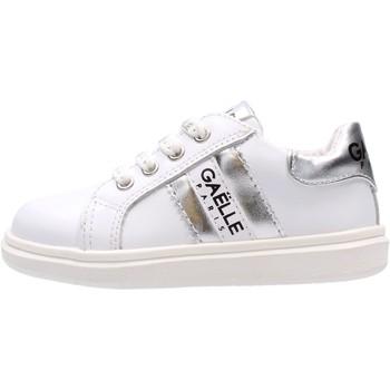 Zapatos Niño Zapatillas bajas GaËlle Paris - Sneaker bianco/arg G-741 BIANCO