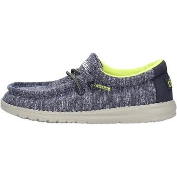 Zapatos Niño Deportivas Moda Hey Dude - Sneaker blu WALLY YOUTH 2556 GRIGIO