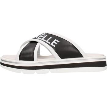 Zapatos Niño Zuecos (Mules) GaËlle Paris - Sandalo nero/bco G-843 NERO-BIANCO
