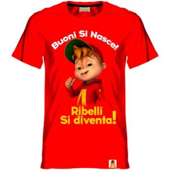 textil Niño Camisetas manga corta Alvin Rebel - T-shirt rosso AR/001/RED ROSSO