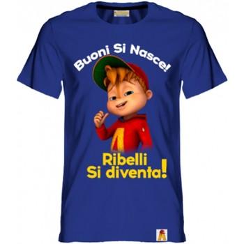 textil Niño Camisetas manga corta Alvin Rebel - T-shirt blu AR/001/BLU BLU