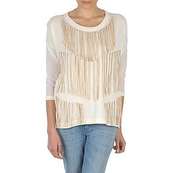 textil Mujer Camisetas manga larga Eleven Paris ANGIE Blanco