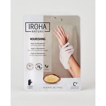 Belleza Cuidados manos & pies Iroha Nature Guantes Mascarilla Nutritivos con Aceite de Argán y Macadamia