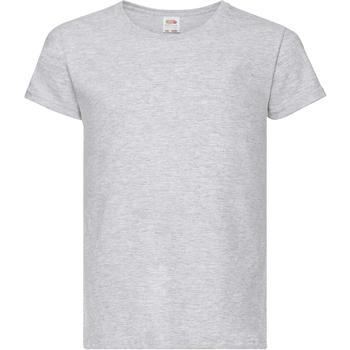 textil Niña Camisetas manga corta Fruit Of The Loom 61005 Gris