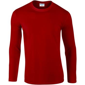 textil Hombre Camisetas manga larga Gildan 64400 Rojo