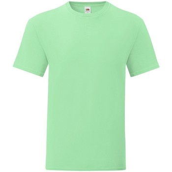 textil Hombre Camisetas manga corta Fruit Of The Loom 61430 Menta Neo