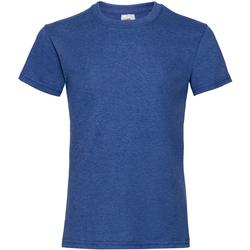 textil Niña Camisetas manga corta Fruit Of The Loom 61005 Azul royal moteado