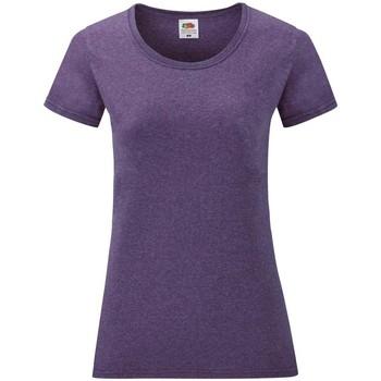textil Mujer Camisetas manga corta Fruit Of The Loom 61372 Púrpura Jaspeado