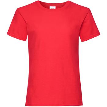 textil Niña Camisetas manga corta Fruit Of The Loom 61005 Rojo