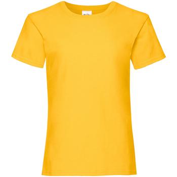 textil Niña Camisetas manga corta Fruit Of The Loom 61005 Amarillo oscuro