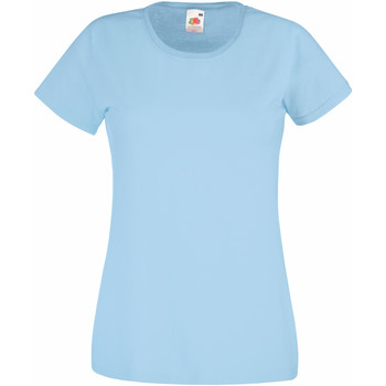 textil Mujer Camisetas manga corta Fruit Of The Loom 61372 Azul cielo