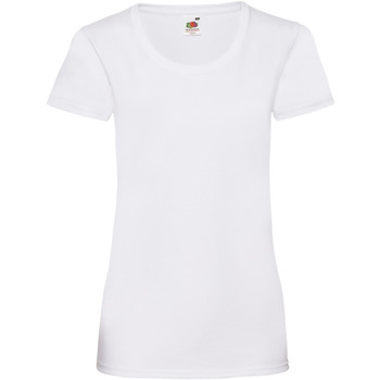 textil Mujer Camisetas manga corta Fruit Of The Loom 61372 Blanco