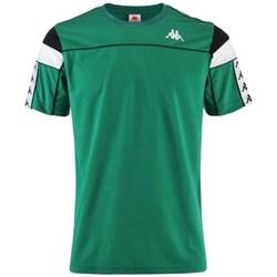 textil Hombre Camisetas manga corta Kappa Banda Arar Verdes
