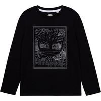 textil Niño Camisetas manga larga Timberland BAGIRI Negro