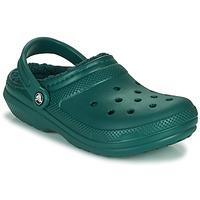 Zapatos Zuecos (Clogs) Crocs CLASSIC LINED CLOG Verde