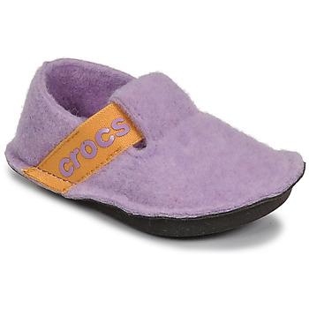 Zapatos Niña Pantuflas Crocs CLASSIC SLIPPER K Violeta / Amarillo