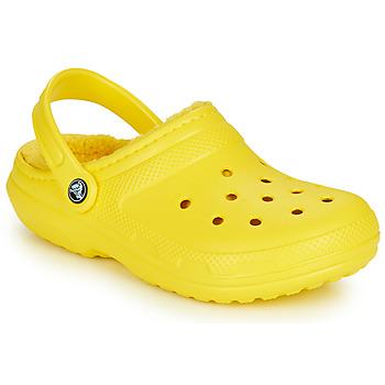 Zapatos Zuecos (Clogs) Crocs CLASSIC LINED CLOG Amarillo