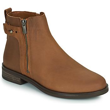 Zapatos Mujer Botas de caña baja Clarks MEMI LO Camel
