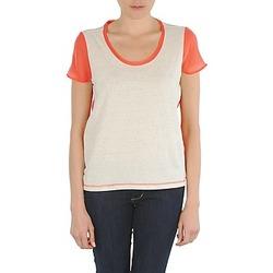 textil Mujer camisetas manga corta Eleven Paris EDMEE Beige / Naranja
