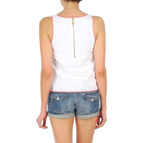 Mangas Top Sin Manoush Textil Blanco Mujer Camisetas Noeud BtrQdhCsx