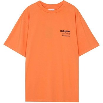 textil Hombre Camisetas manga corta Sixth June T-shirt  barcode orange