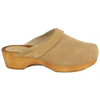 Zapatos Mujer Zuecos (Clogs) Lolas ZUECO GRAPADO DE Beige