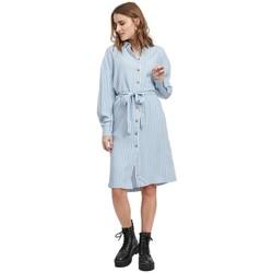 textil Mujer Vestidos Vila Suka Dress White Alyssum Ashley Blue Azul