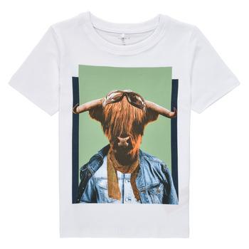 textil Niño Camisetas manga corta Name it NMMKYLAN SS TOP Blanco