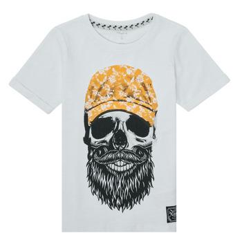textil Niño Camisetas manga corta Name it NKMKSOYTAN SS TOP Blanco