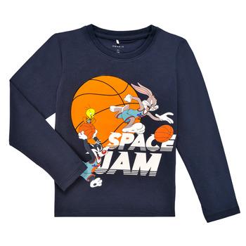 textil Niño Camisetas manga larga Name it NMMSPACEJAM ARNE LS TOP Marino