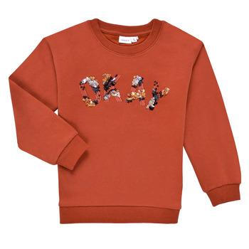 textil Niña Sudaderas Name it NKFOCALI LS SWEAT Rojo